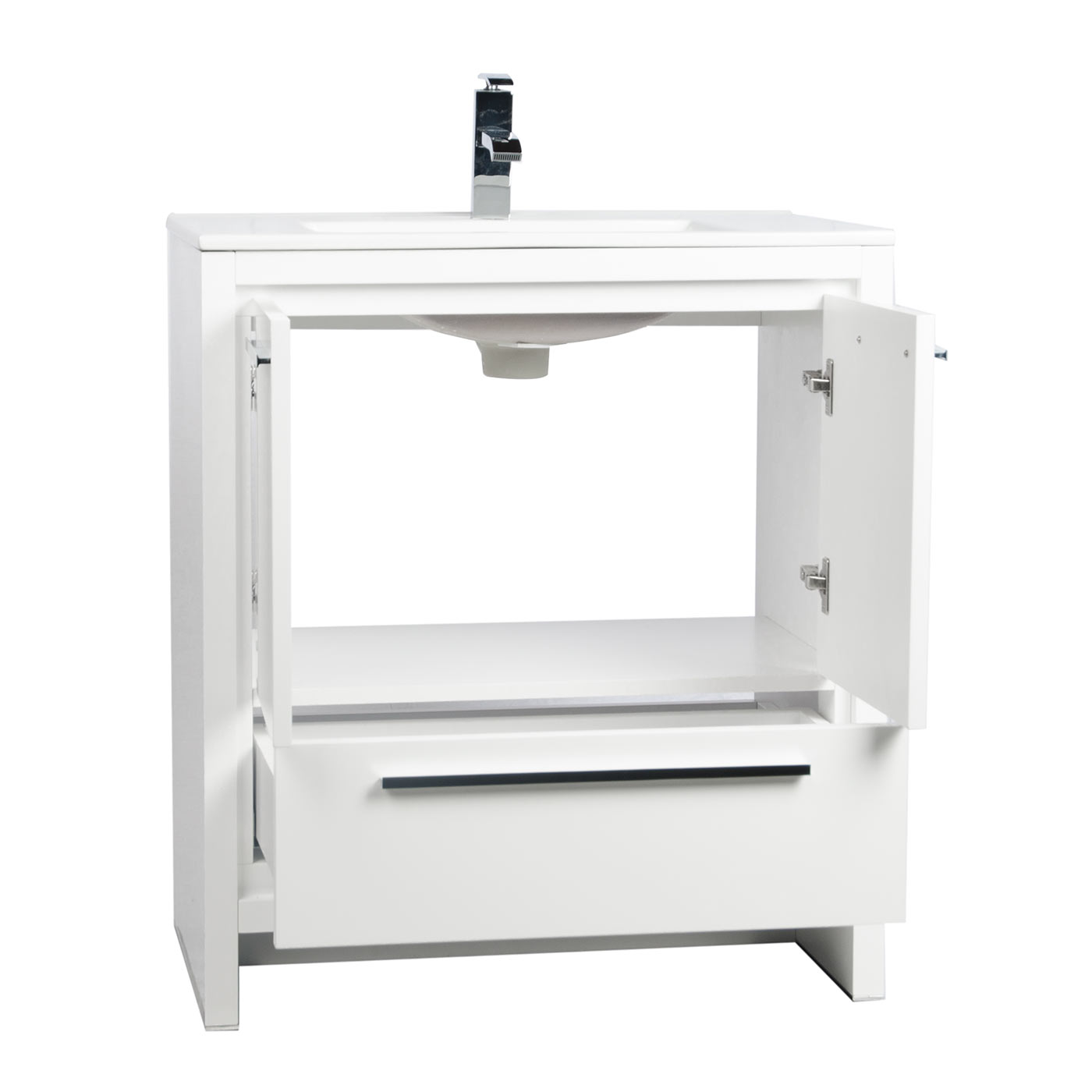 Buy cbi enna 30 inch glossy white modern bathroom vanity for Bathroom 30 inch vanity