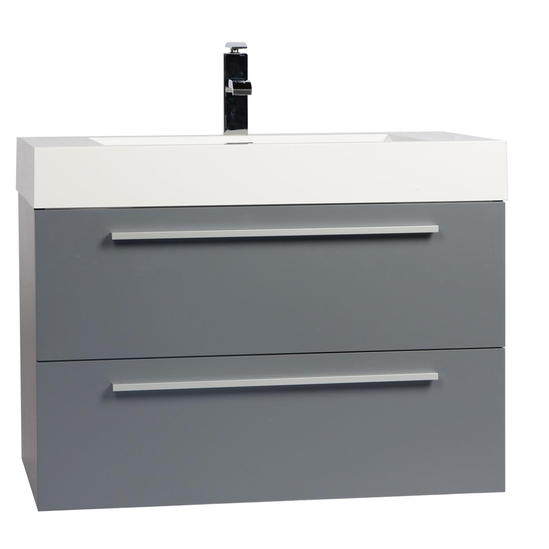 Modern Bathroom Vanity Buy 3125 Inch Wall Mount Modern Bathroom Vanity Metalic Grey Tn