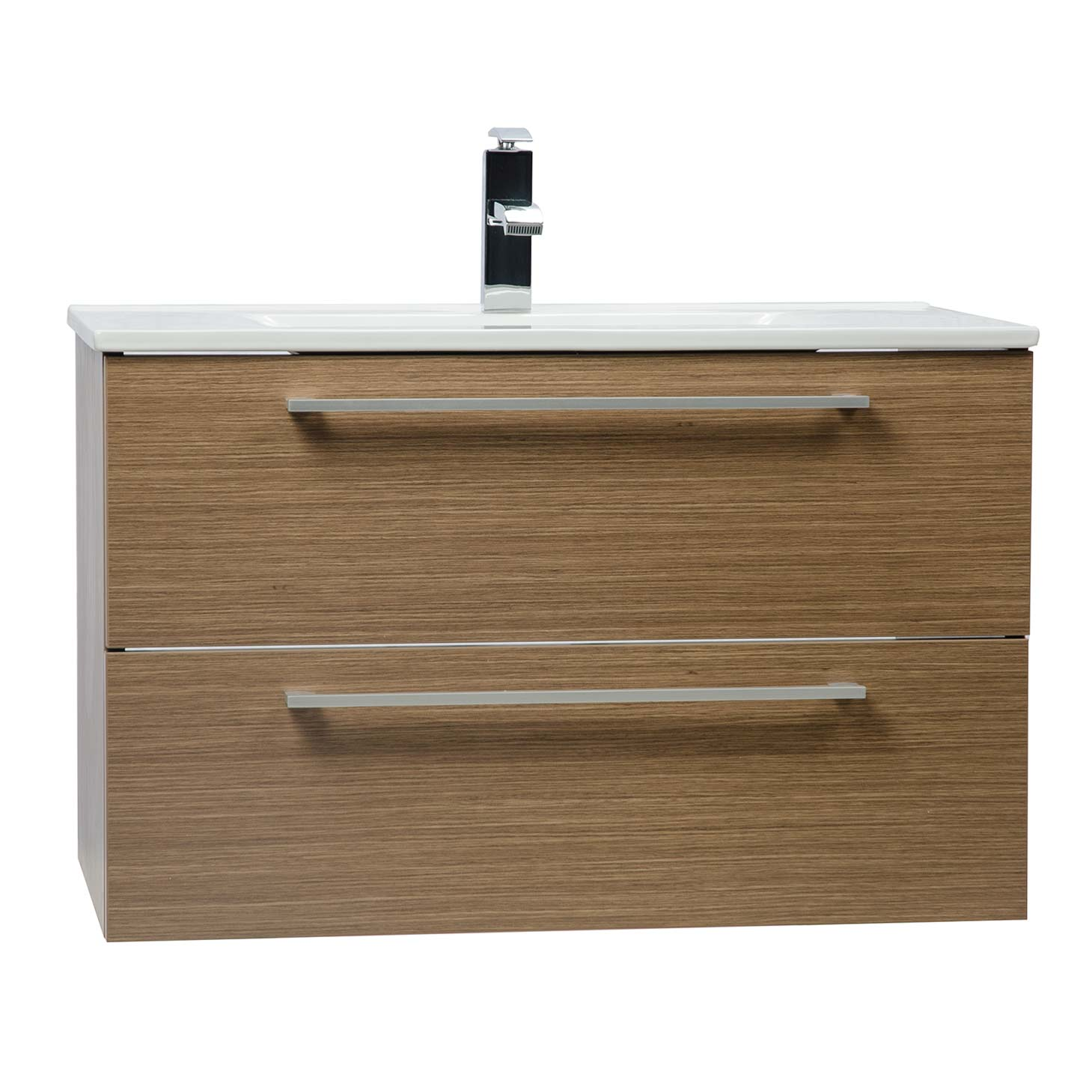 Bathroom Vanity Lighting Concept For Modern Houses: Buy 32 Inch Wall-Mount Modern Bathroom Vanity In Light Oak