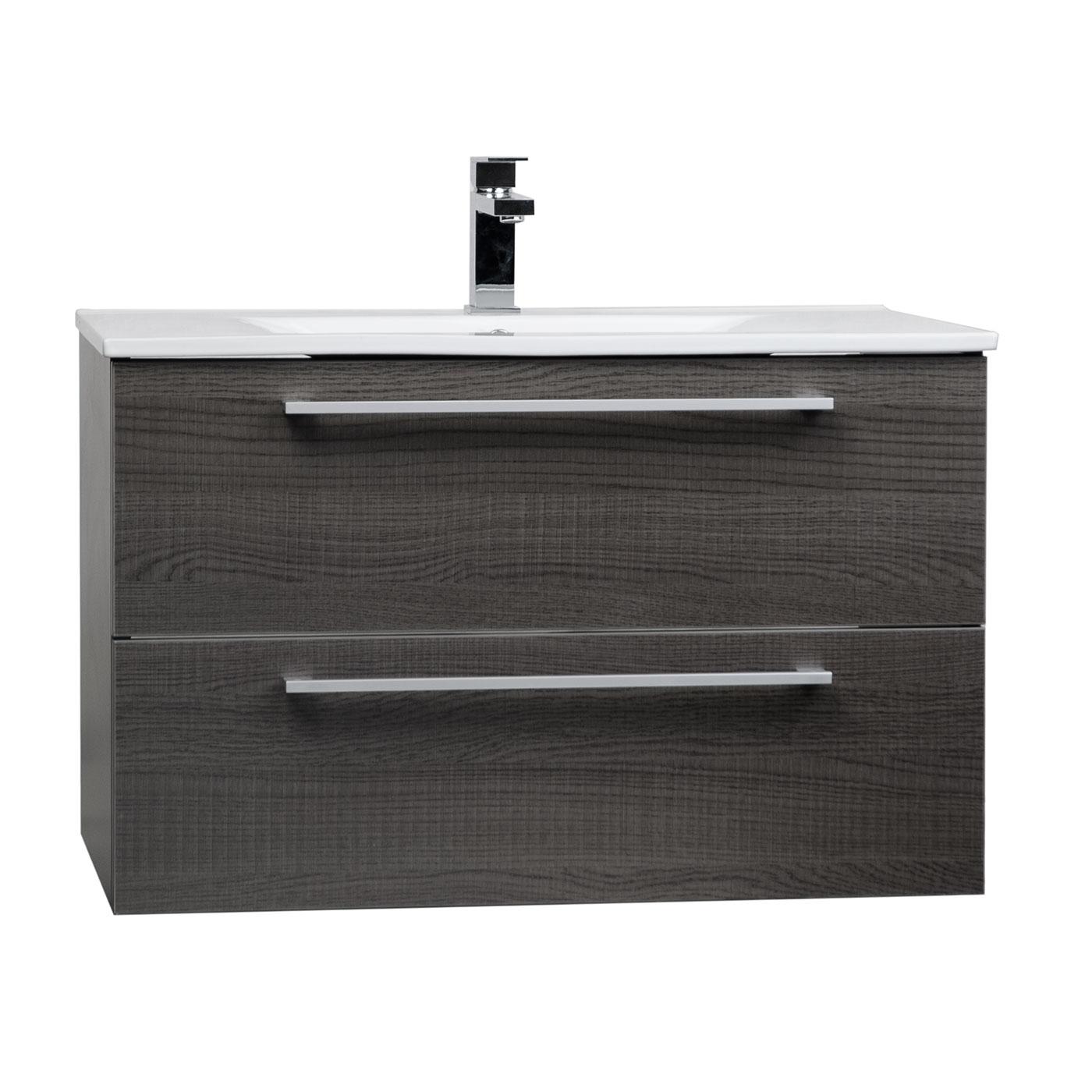 Buy 32 Inch Wall Mount Modern Bathroom Vanity Set Oak Rs Dm800 Oak On Free