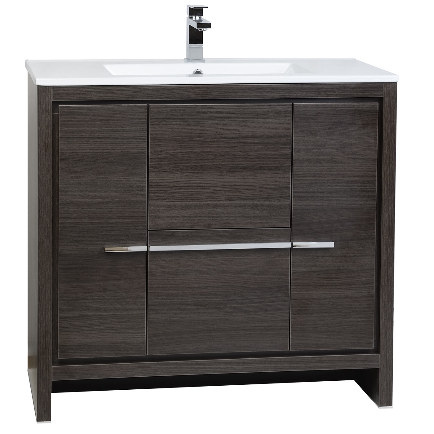 Buy Cbi Enna 36 Inch Grey Oak Modern Bathroom Vanity Tn La900 Go On