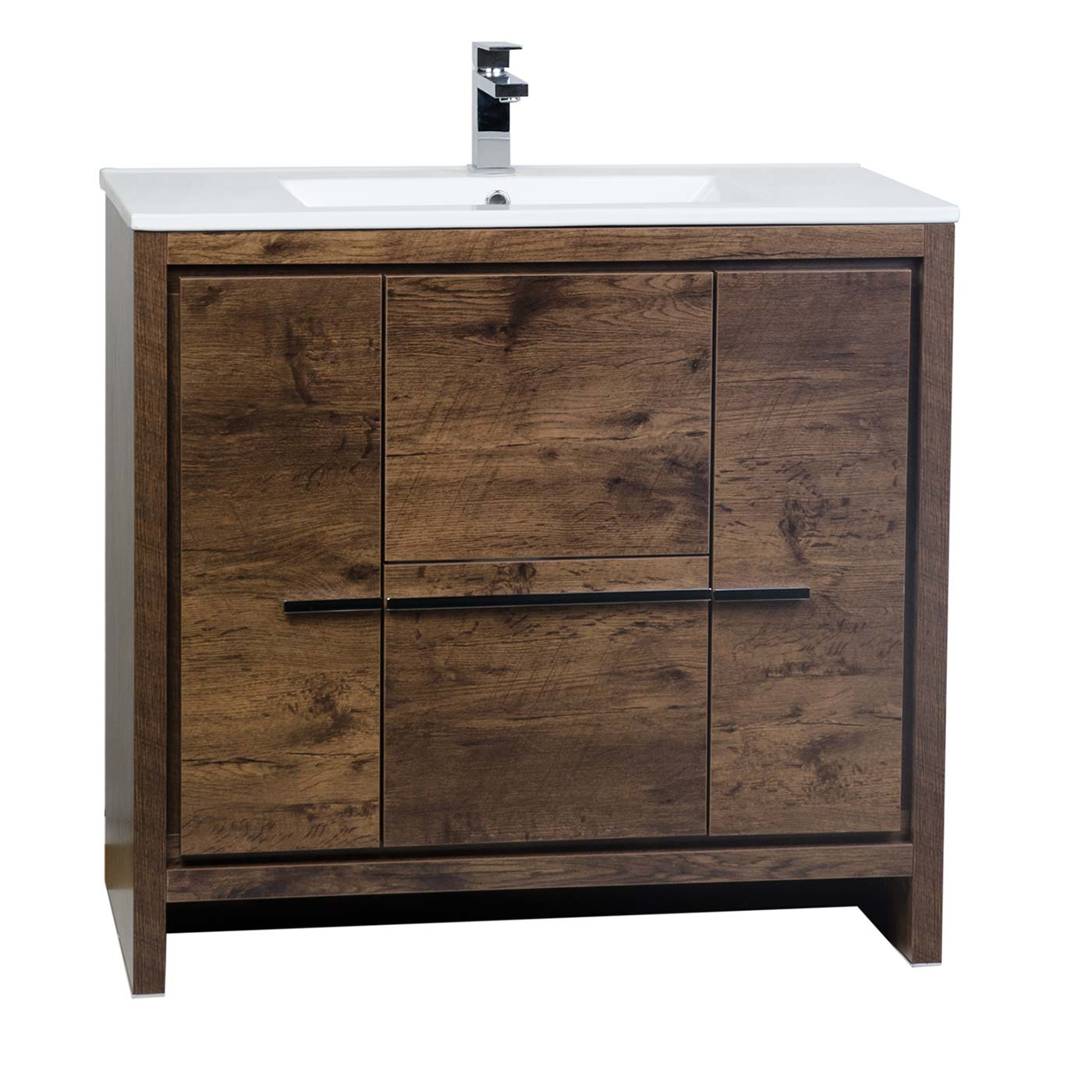 Buy cbi enna 36 inch rosewood modern bathroom vanity tn for Restroom vanity