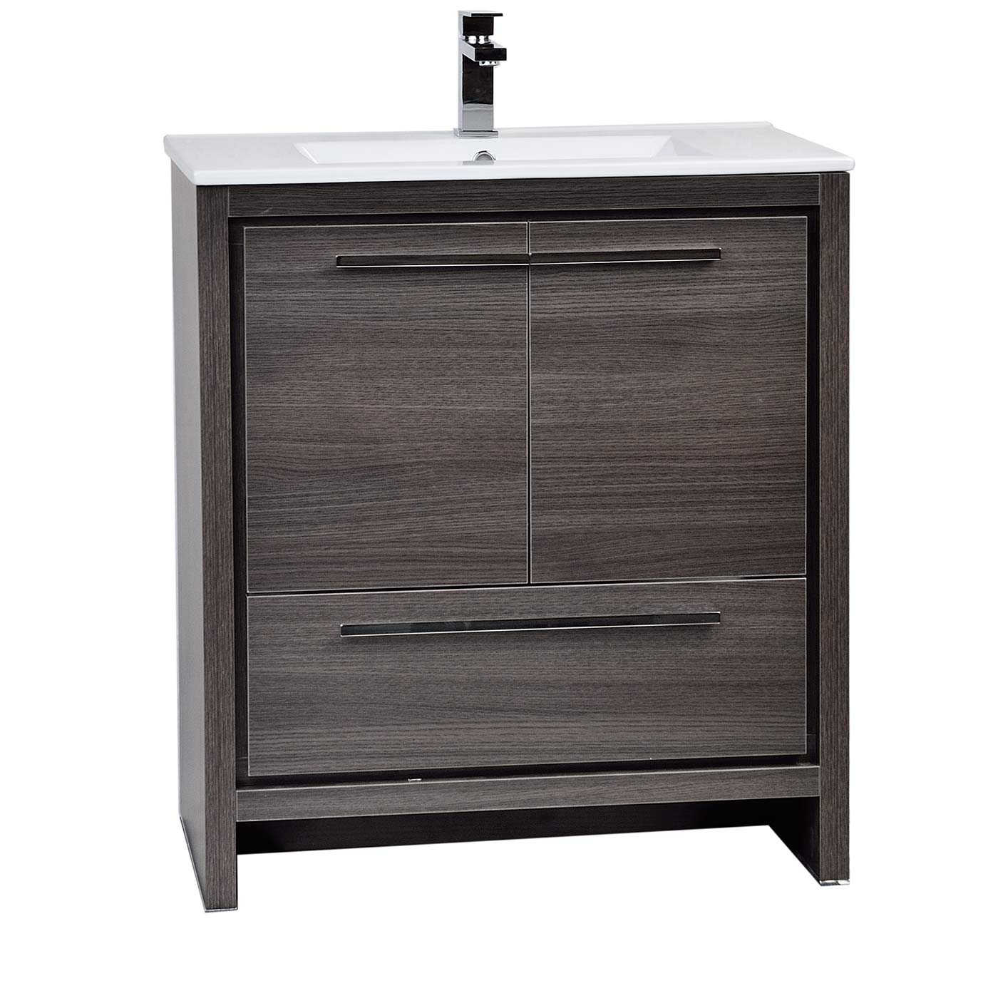 Buy Cbi Enna 29 5 Inch Grey Oak Modern Bathroom Vanity Tn La750 Go On