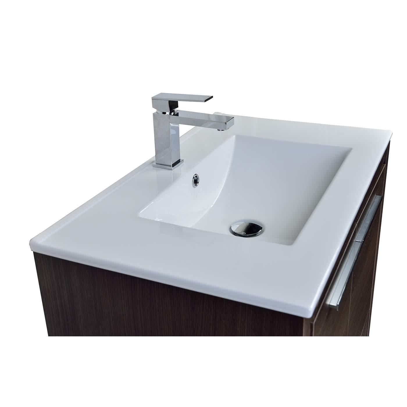 Buy cbi enna 29 5 inch grey oak modern bathroom vanity tn for Levi 29 5 single modern bathroom vanity set