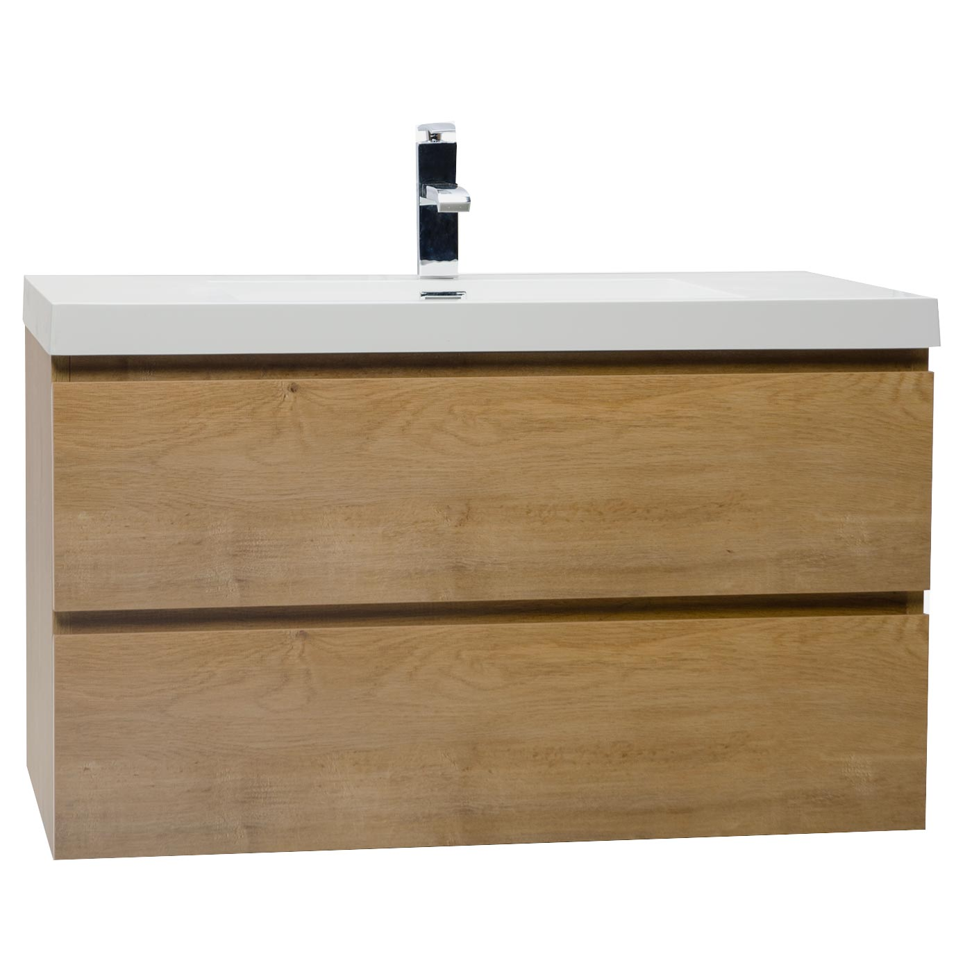 Buy angela 35 5 inch wall mount bathroom vanity in natural for Bathroom cabinets natural wood