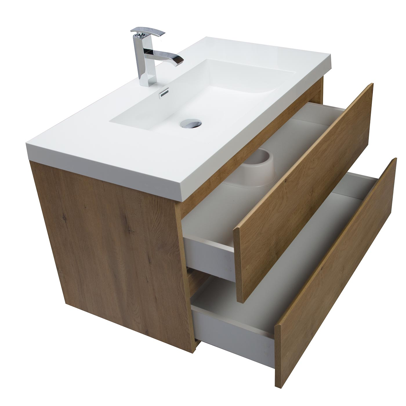 Buy Angela 35 5 Inch Wall Mount Bathroom Vanity In Natural Oak Tn Ag900 No