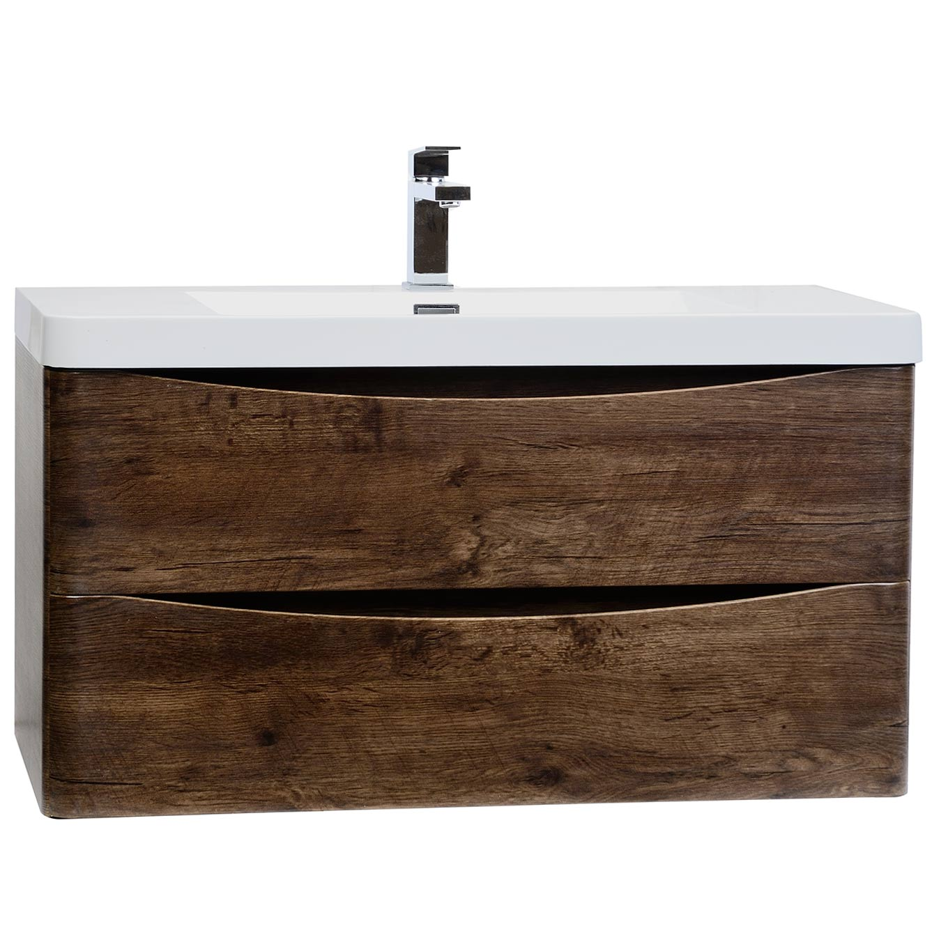 Modern bathroom sinks and faucets - Buy Merida 35 5 Quot Wall Mount Bathroom Vanity In Rosewood Tn