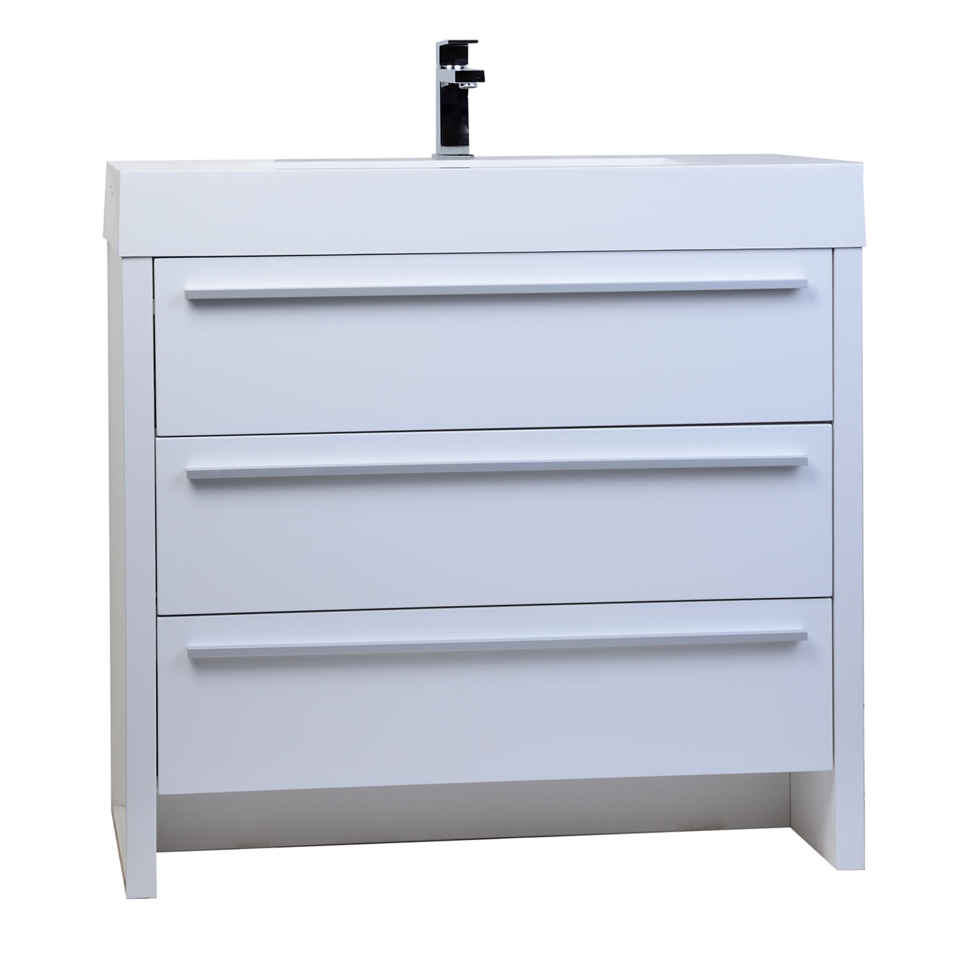 Buy vinnce 35 5 inch modern bathroom vanity in gloss white Bathroom sink cabinets modern
