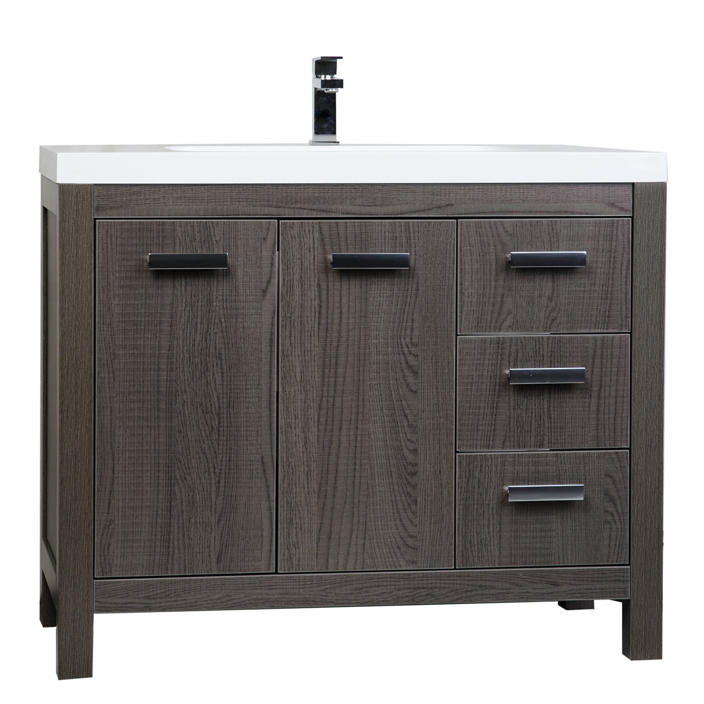 Buy 39 5 inch modern bathroom vanity in oak optional for Oak bathroom vanity