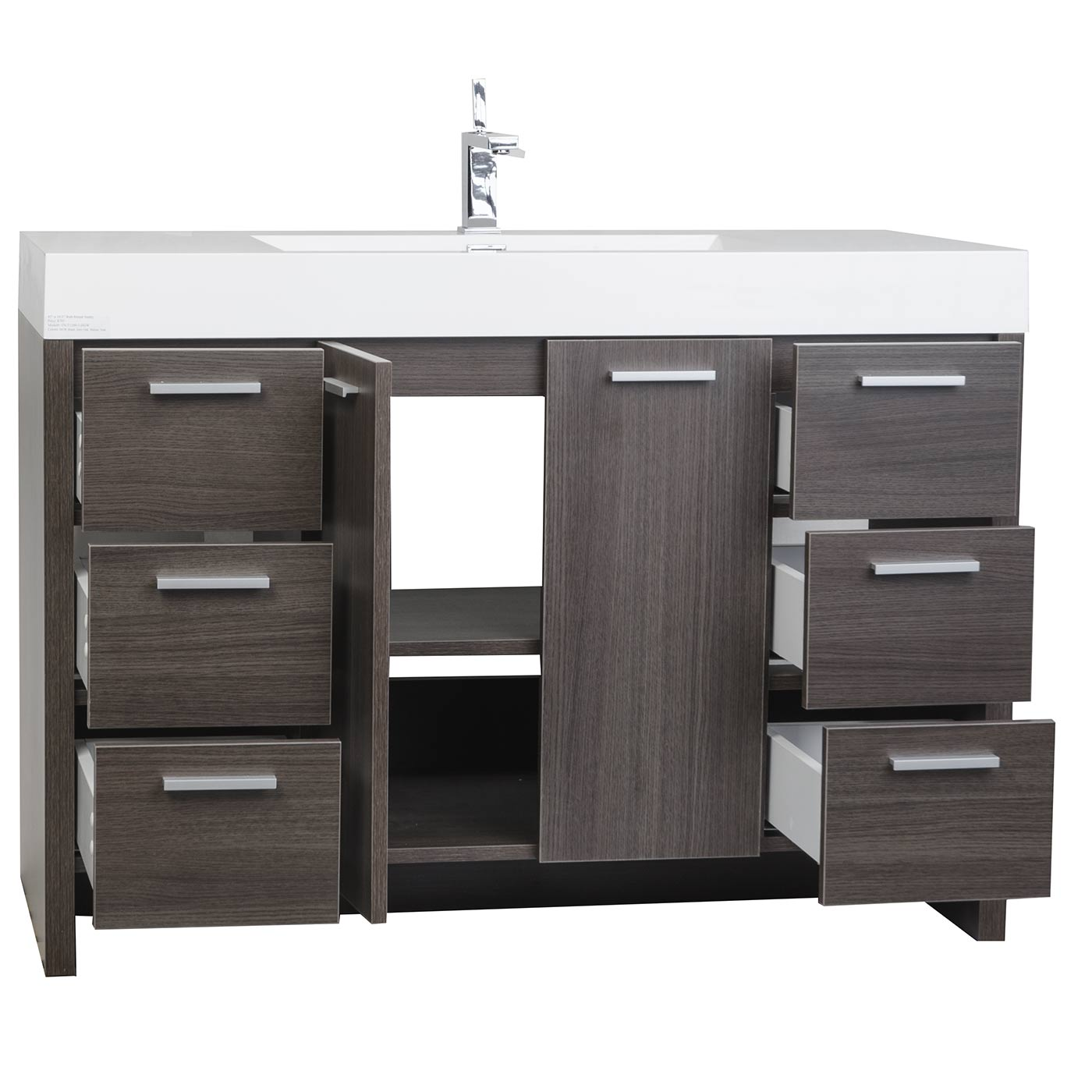 Buy Inch Modern Bathroom Vanity Grey Oak Finish TNLYGO - Cabinets to go bathroom vanity