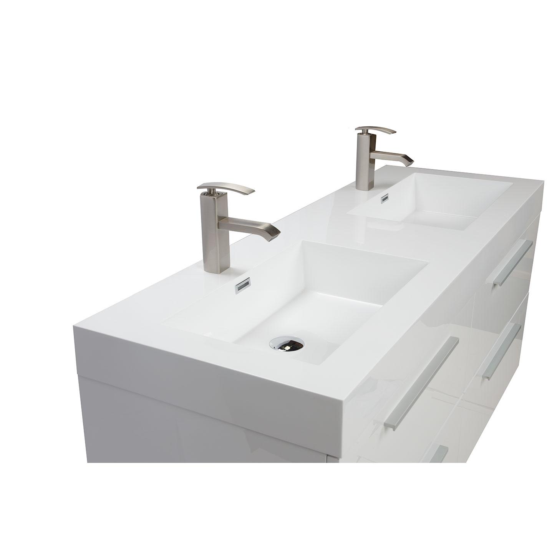 nickbarronco 100 Modern Double Sink Vanity Images My