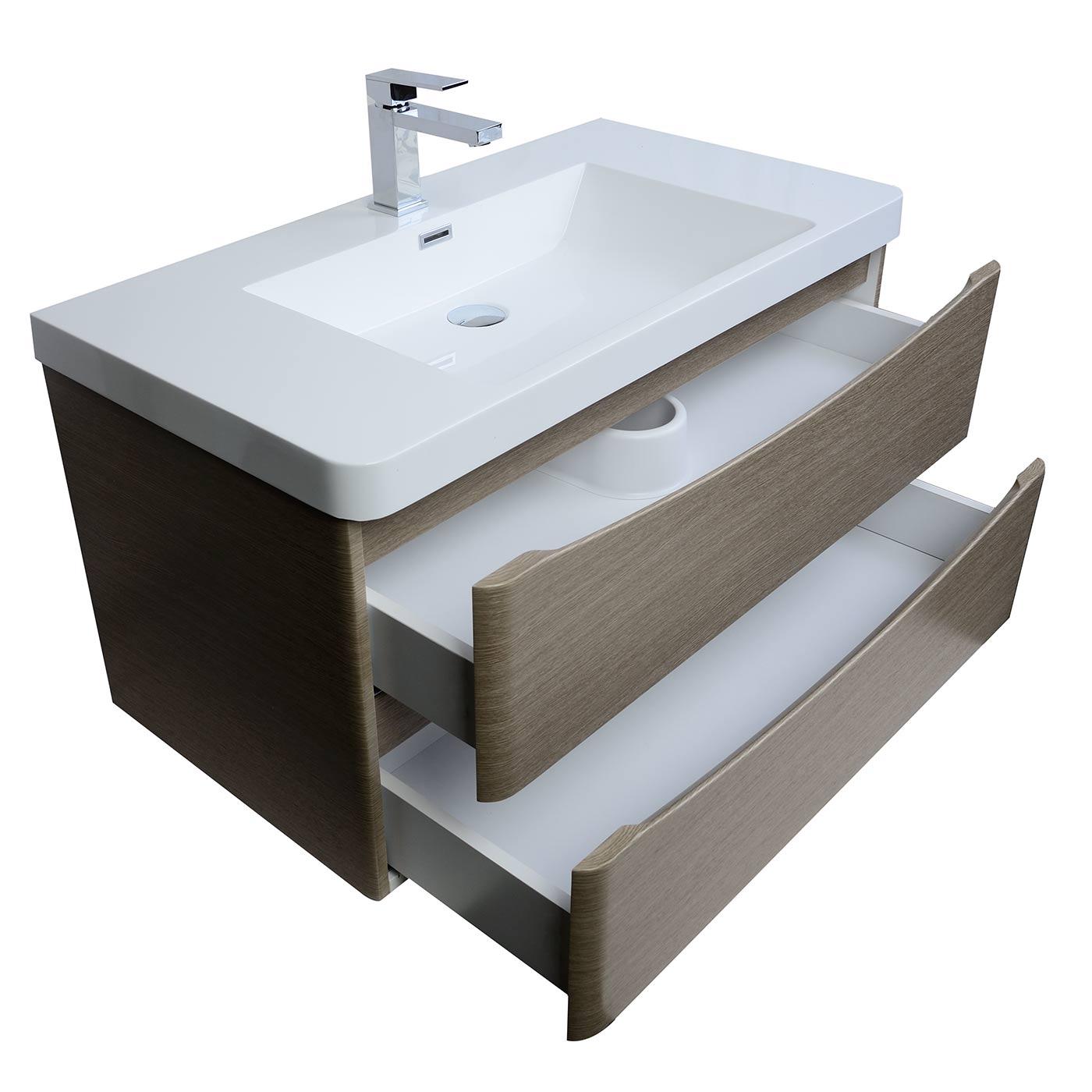 Wall Mount Bathroom Vanities. Merida 35 5 Wall Mount Bathroom Vanity In Light Pine Tn Sm900 Lp