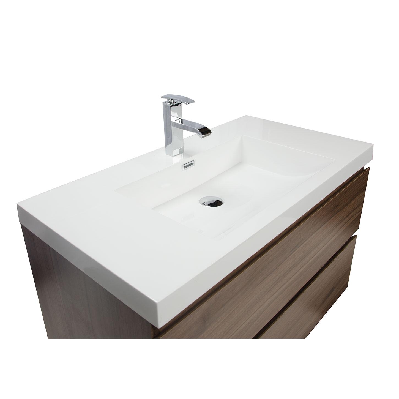 Angela 35 5  Wall Mount Bathroom Vanity in Walnut TN AG900 WN. Buy Angela 35 5  Wall Mount Bathroom Vanity in Walnut TN AG900 WN