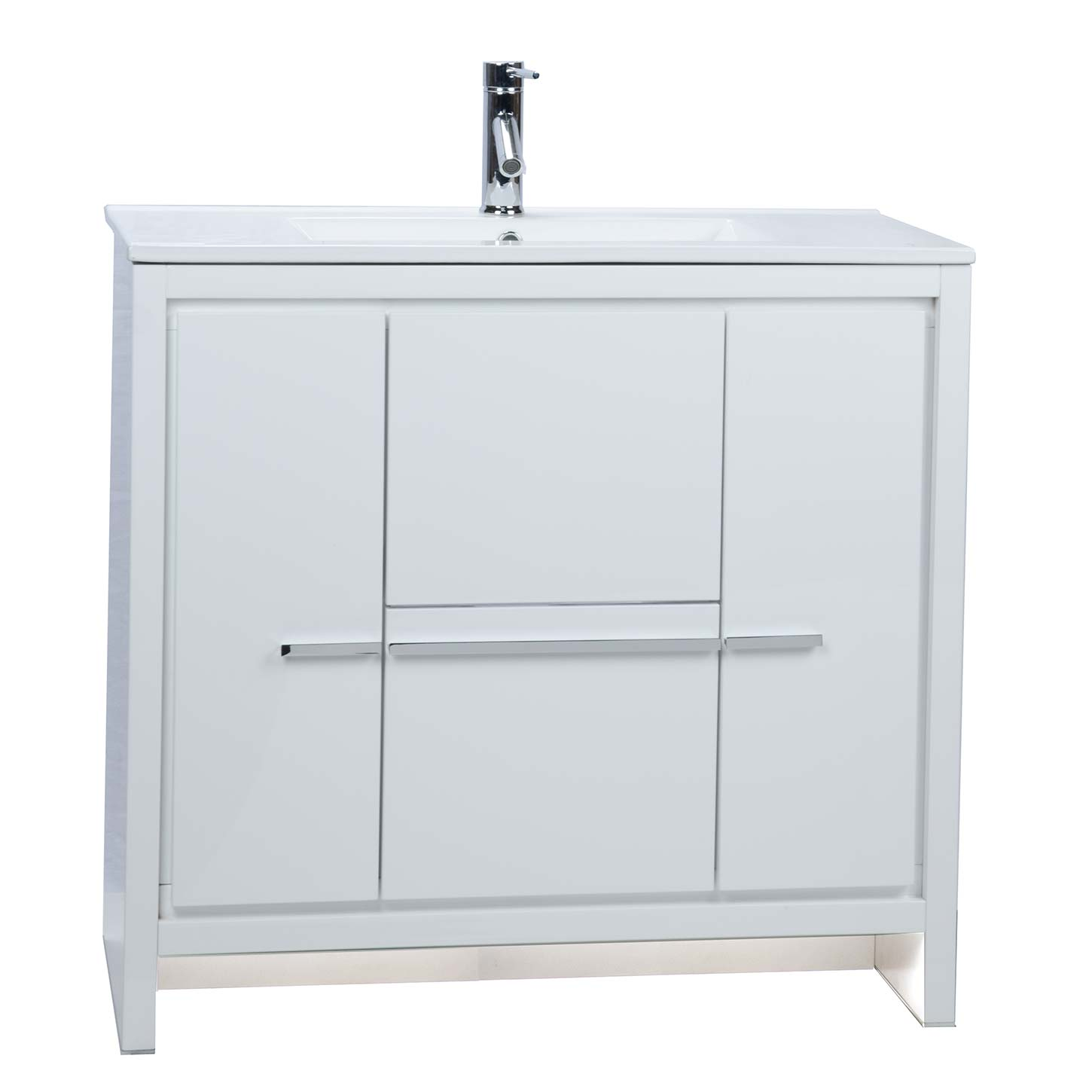 CBI Enna 36 Inch Modern Bathroom Vanity High Gloss White TN LA900 HGW