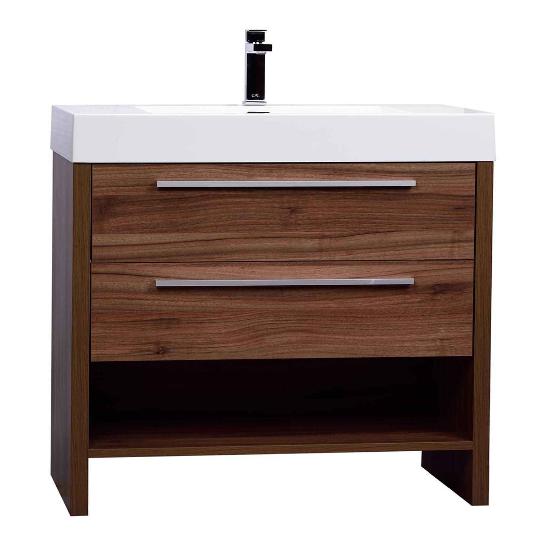 Mula 35 5 Inch Modern Bathroom Vanity Walnut Rs L900 Wn On Conceptbaths Com
