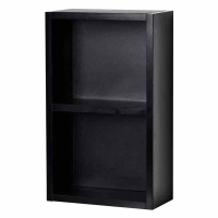 12 Inch Linen Cabinet with Open Storage in Black TN-T690-SHELF-BK