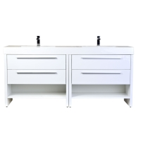 "Mula 71"" Contemporary Double Vanity Set RS-LA1810-HGW"