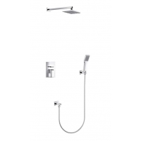 "Oceanus Shower Systems with 2-Way Concealed Triple Valve and 8"" Shower Head CL-JDL8857101"