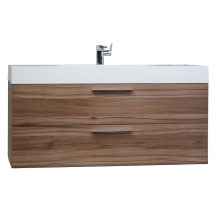 "47""  Contemporary Bathroom Vanity  in Walnut RS-L1200-WN"