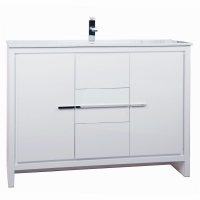 CBI Enna 48 Inch Modern Bathroom Vanity High Gloss White TN-LA1200HGW