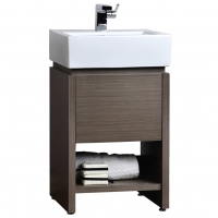 "20"" Solid Wood Bathroom Vanity Set in Light Grey Oak"