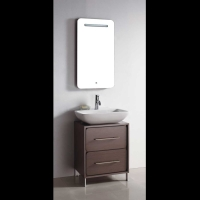 "TURIN 23.5"" Single Sink Bathroom Vanity Light Grey Oak VM-V14155-LGO"