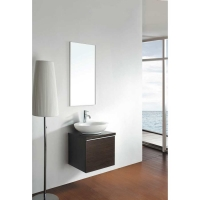 "18"" Wall-mount Bathroom Vanity Set in IRON WOOD Finish"
