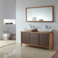 "BARI 59"" Solid Wood Double Vanity VM-V14168-IR"