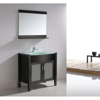 "35.5"" Solid Wood Bathroom Vanity - Espresso"