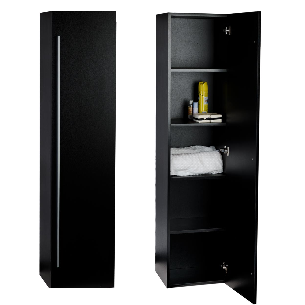 black linen cabinets for bathroom buy 16 quot x 67 quot linen cabinet in black tn n1200 sc bk on 22770