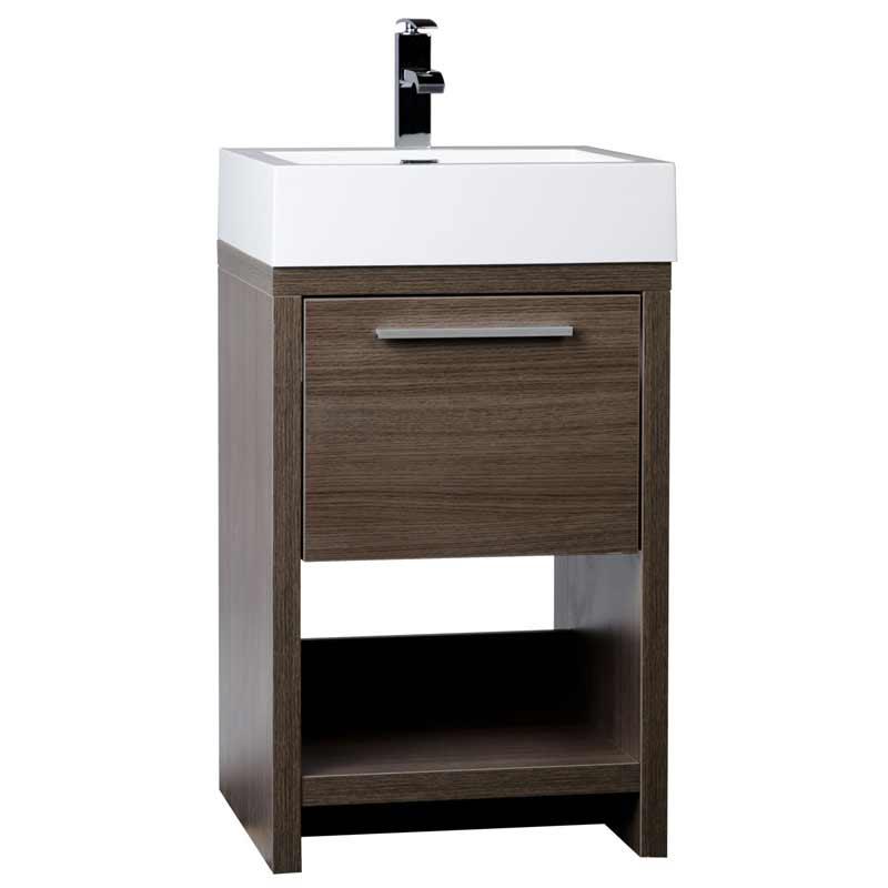 Modern Bathroom Vanity Set Grey Oak Free Shipping Tn L500 Go On Conceptbaths Com