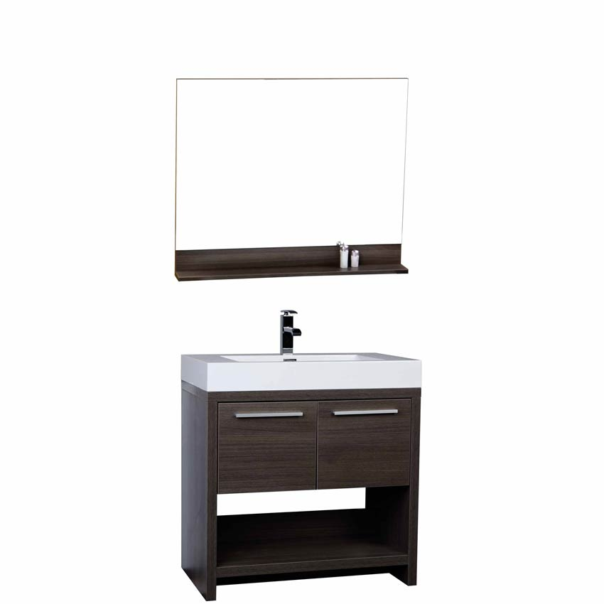 modern bathroom vanity set grey oak tn-l800-go conceptbaths 32 Inch Bathroom Vanity