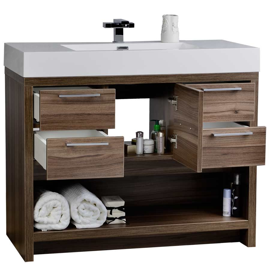 40 bathroom vanity cabinet 40 quot modern bathroom vanity set with walnut finish tn l1000 10252