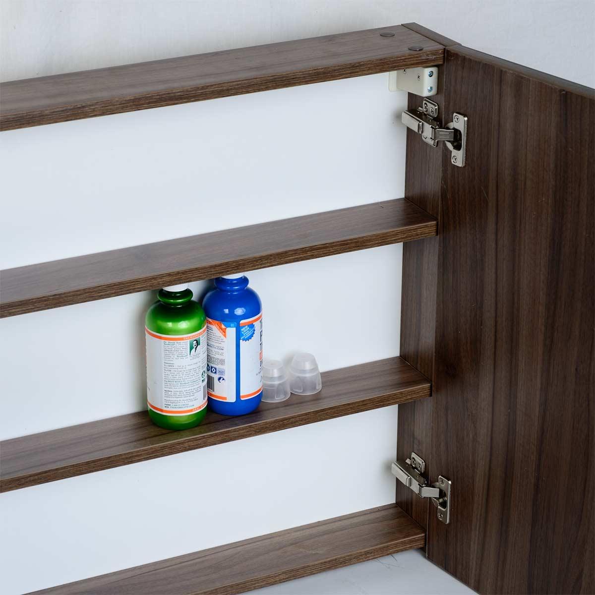 Medicine Cabinet W Mirror Walnut 31 5 In X 26 H Tn Tb800 Mc Wn