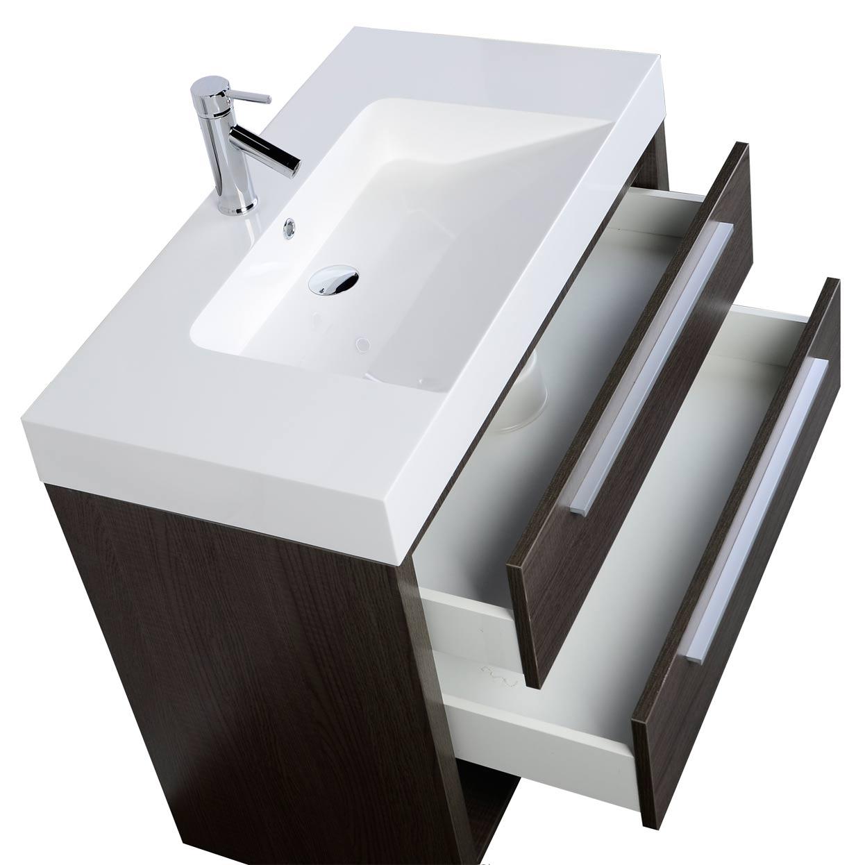 Modern Bathroom Vanity Oak Rs L900