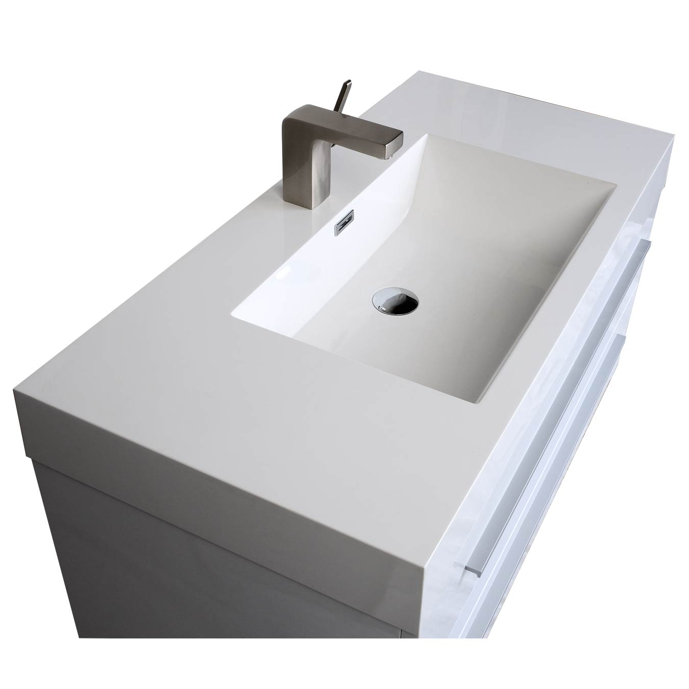 35 5 In Wall Mount Modern Bathroom Vanity High Gloss White Tn M900 Hgw