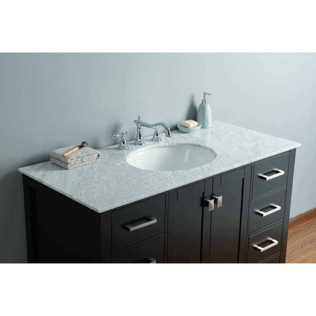 Bathroom Vanities Bathroom Vanities 36 59 Stufurhome 48 Inch Malibu Espresso Single Sink Bathroom Vanity