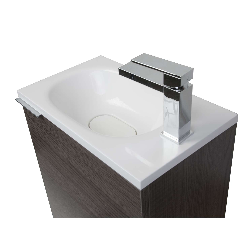 Buy 20 Inch Wall Mounted Bathroom Vanity Set Rs L500 Oak On Conceptbaths Com