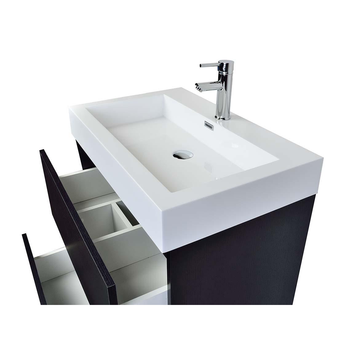 29 5 Contemporary Bathroom Vanity Black Tn Ly750 Bk