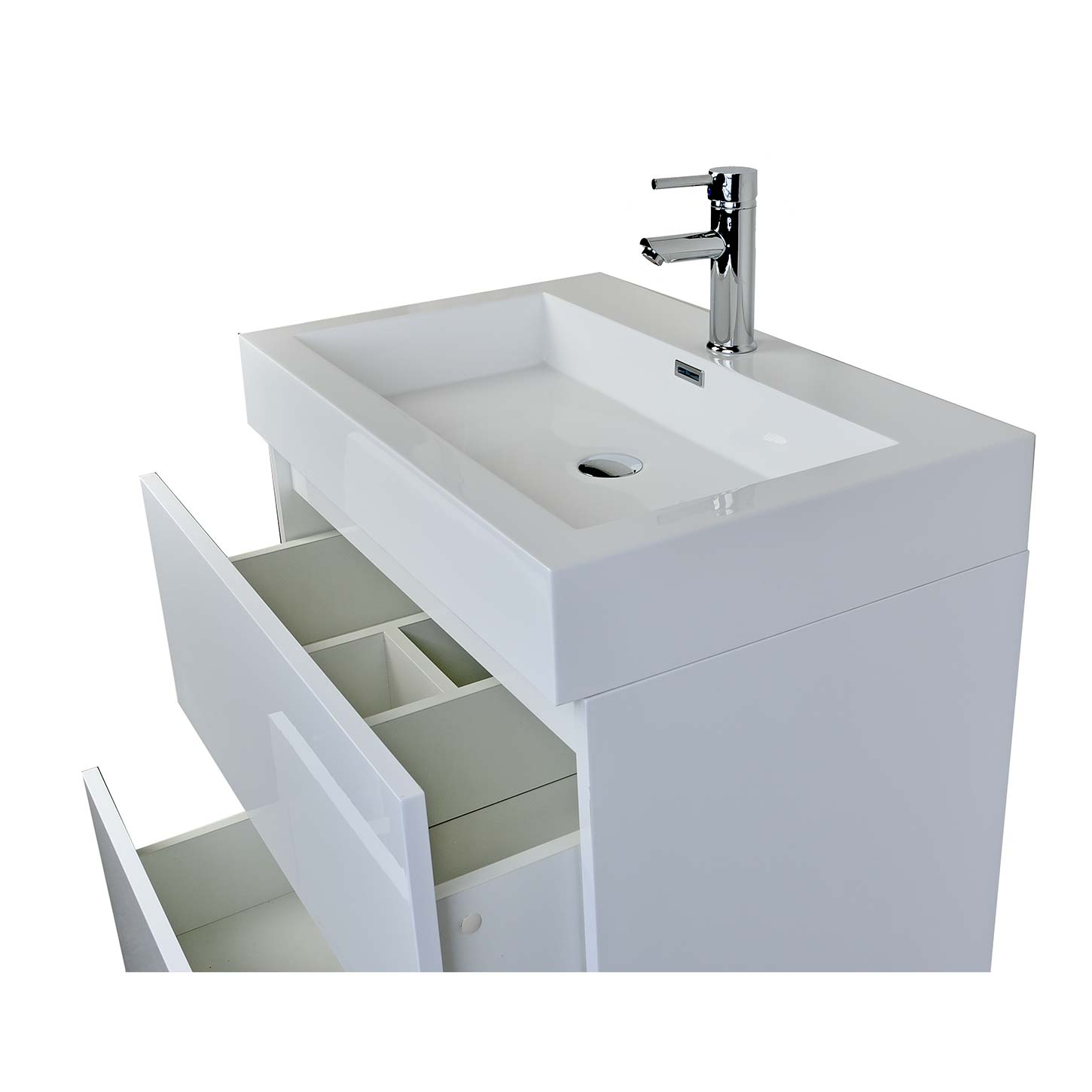 29 5 Contemporary Bathroom Vanity In High Gloss White Tn Ly750 Hgw