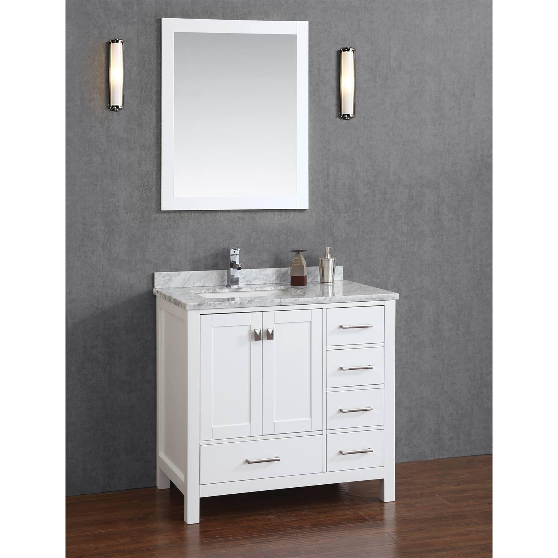buy vincent 36 inch solid wood single bathroom vanity in
