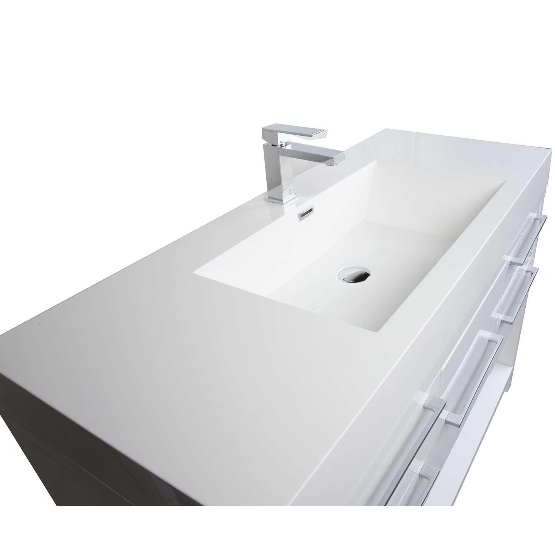 Buy Lodi 47 Inch Modern Bathroom Vanity Set Glossy White Finish Tn L1200 Hgw Conceptbaths Com