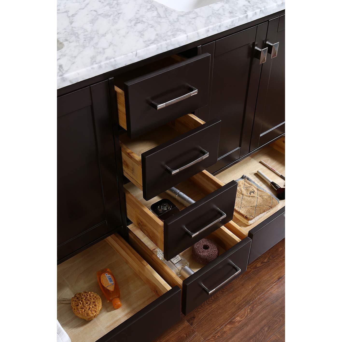 """buy vnicent 60"""" solid wood double bathroom vanity in"""