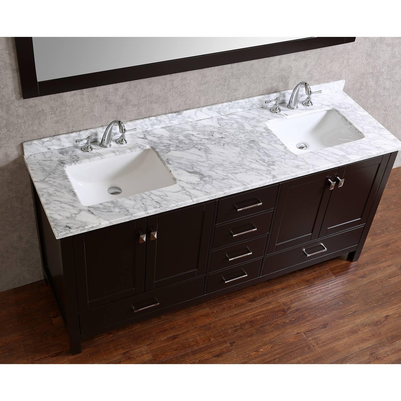 Buy Vincent 72 Inch Solid Wood Double Bathroom Vanity In Espresso Hm 13001 72 Wmsq Esp Conceptbaths Com