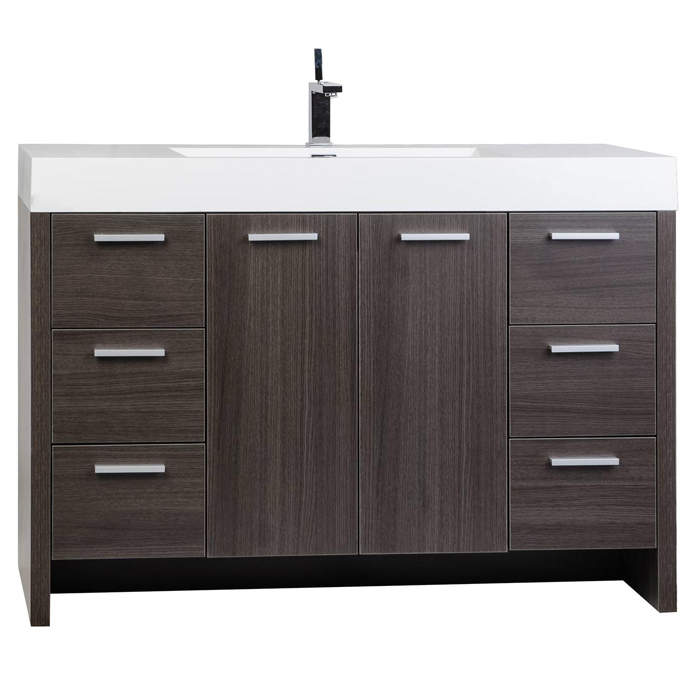 bathroom cabinets grey buy 47 25 inch modern bathroom vanity grey oak finish tn 10372
