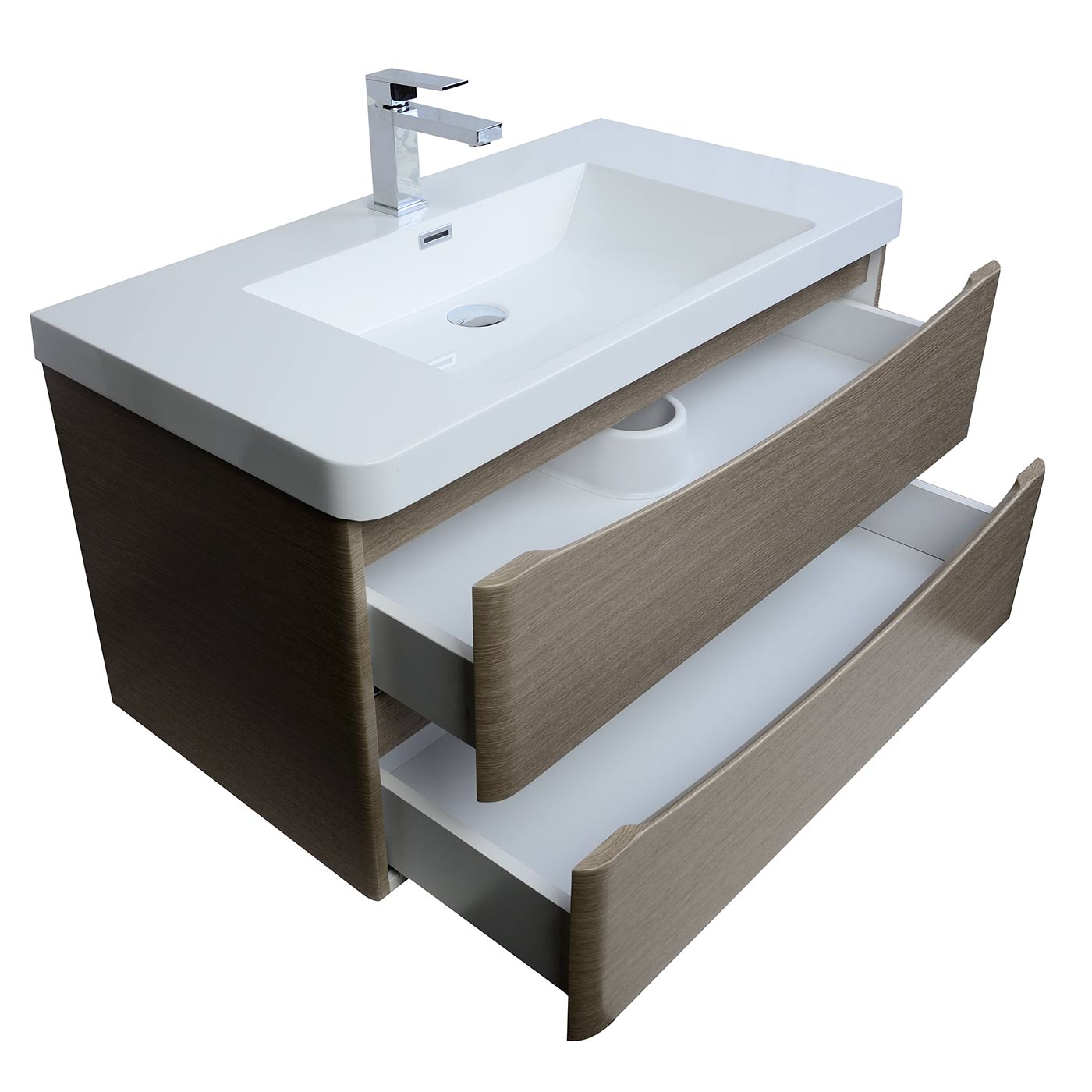 buy merida 30 inch wall mount bathroom vanity in light 13764 | 30277 wall mounted single bathroom vanity tn sm900 lp 2
