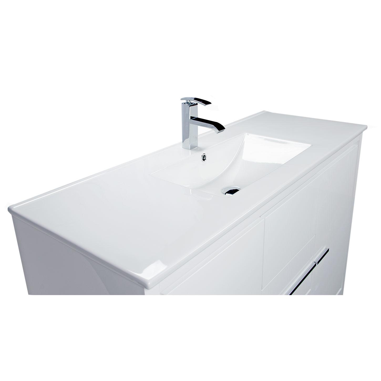 Buy Cbi Enna 48 Inch Modern Bathroom Vanity High Gloss White Tn La1200c Hgw On Concepbaths Com
