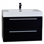 "31.5"" Wall-Mount Contemporary Bathroom Vanity Set Black TN-M800-BK"