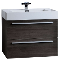 "26.75"" Single Bathroom Vanity Set in Grey Oak TN-T690-GO"