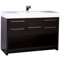 "47"" Modern Wall-mount Bathroom Vanity Set with Espresso Finish TN-L1200-WG"